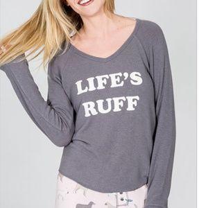 """PJ Salvage """"Life's Ruff"""" Pajama Top"""